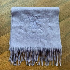 Burberry Lavender Cashmere Wool Scarf